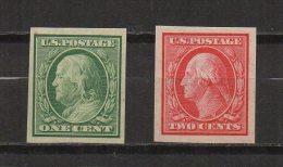 N852.-. USA / ESTADOS UNIDOS.-.1908 .-. SC# : 343-344 .-. MH .-. FRANKLIN AND  WASHINGTON .-. CAT VAL US$  8.50 - Neufs