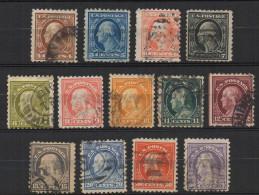 N860.-. USA / ESTADOS UNIDOS.-.1914 .-. SC# : 427-440 .-.USED .-. WASHINGTON  AND FRANKLIN.-. CAT VAL US$  84.00.50 - Etats-Unis