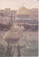 Jerusalem Church Of Sta. María Magdalena And The Dome Of The Rock - Seen From The Mount Of Olives - Israel