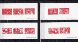 """4 Gravures Officielles De 2005 N° YT 3842 à 3851 (= BF 91) """" LES JEUX VIDEOS : LARA CROFT PAC-MAN MARIO"""" En PARFAIT état - Documents Of Postal Services"""