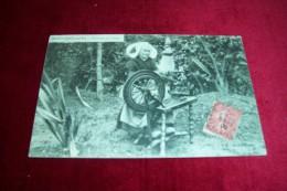 SAINT BROLADRE  ° FILEUSE AU ROUET  8 09 1906 - Francia