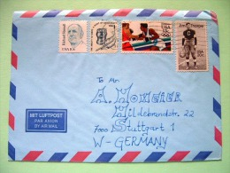 USA 1984 Cover To Germany - Olympics Boxing - Jim Thorpe Baseball - Richard Russell - Lettres & Documents