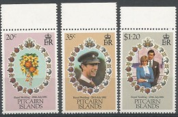 Pitcairn 1981 202 - 204 ** Mariage Prince Charles - Lady Diana - Francobolli