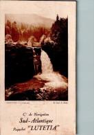 "Menu Paquebot ""LUTETIA"" Dîner Du 25/04/1928 - Cie De Navigation SUD-ATLANTIQUE - Saut Du Doubs - Menus"