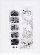 Belg. 2014 - Buzin Autrement ** (lapin, Renard, Lynx, Chevreuil, Sanglier) - Black-and-white Panes