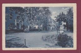 11 - 090914 - LA FRANQUI PLAGE - L'établissement Du Parc - Statue Ange  Chérubin - - Autres Communes
