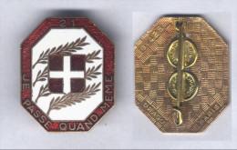 Insigne Du 21e Régiment D´Infanterie - Armée De Terre