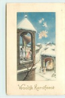 JOYEUX NOËL  - Nativité Et Angelots. - Natale