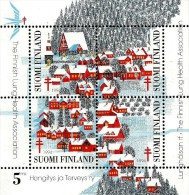 Finland - 1991 - National Lung Health Association - Christmas Seal - Mint Charity Souvenir Sheet - Finland