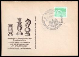 Schaken Schach Chess ajedrez �checs - Duitsland Borstendorf 24.10.1987