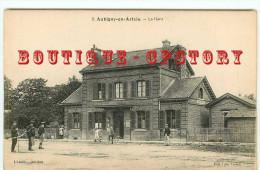 PRIX FIXE < 62 - AUBIGNY En ARTOIS - GARE - TRAIN < CHEMIN De FER < BAHNHOF < RAILWAY STATION - DOS SCANNE - Aubigny En Artois
