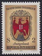 AUSTRIA 1976 - STEMMI - BURGENLAND - S. 2 - MNH - Cyprus