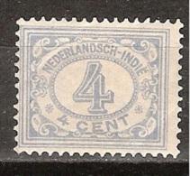 Nederlands Indie Netherlands Indies Dutch Indies 107 MLH ; Cijfer, Cifre, Figure, Cifra 1912-1930 - Niederländisch-Indien
