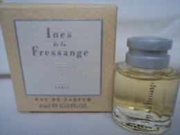 INES DE LA FRESSANGE    MINI EDP   4 ML  LIRE  & VOIR !!! - Miniatures Modernes (à Partir De 1961)