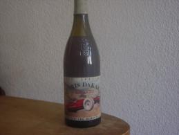 PARIS DAKAR - BOUTEILLE DE VIN DE BOURGOGNE  DE PARIS DAKAR - ETIQUETTE SIGNEE  RARETE - Vin