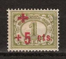 Nederlands Indie Netherlands Indies Dutch Indies 135 MLH ; Rode Kruis Cruz Roja Red Cross Rote Kreuz, Croix Rouge 1915 - Nederlands-Indië