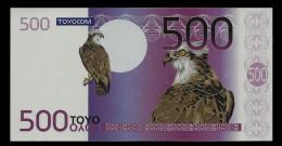 "Test Note ""TOYOCOM"", 500 EURO, Mattes Papier, Testnote, Beids. Druck, RRRR, UNC, Euro Size - EURO"