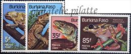 Burkina Faso  662/65**Reptiles - Burkina Faso (1984-...)