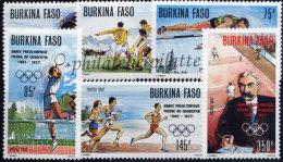 Burkina Faso  743/48**Jeux Olympiques,Pierre De Coubertin - Burkina Faso (1984-...)