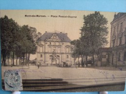 40 - Mont-de-Marsan - Carte Toilée - Place Pascal-Duprat - 1906 - Mont De Marsan