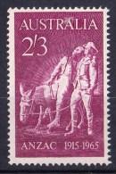 Australia 1965 Anzac 2/3d MNH - 1952-65 Elizabeth II : Pre-Decimals