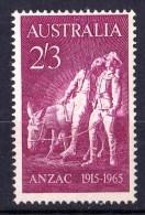 Australia 1965 Anzac 2/3d MNH - Gum Crease Lower Right Corner - 1952-65 Elizabeth II : Pre-Decimals