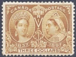 CANADA 1897 $3 DIAMOND JUBILEE Nº 63