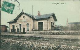 18 GRACAY / La Gare / CARTE COULEUR - Graçay