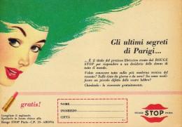 # AVRIL (type 6) ROUGE STOP PARIS 1950s Advert Pubblicità Publicitè Reklame Lipstick Rossetto Lapiz Labial Beautè - Parfums & Beauté