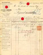 1879,  manufacture Legrand � Hyon Mons / tr�s rare / pi�ces pour chemin de fer et charbonnages