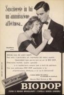# BRILLANTINA BIODOP, ITALY 1950s Advert Pubblicità Publicitè Reklame Hair Fixer Fixateur Cheveux Fijador Haar - Unclassified