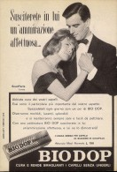 # BRILLANTINA BIODOP, ITALY 1950s Advert Pubblicità Publicitè Reklame Hair Fixer Fixateur Cheveux Fijador Haar - Non Classificati