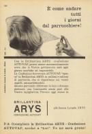# BRILLANTINA ARYS, ITALY 1950s Advert Pubblicità Publicitè Reklame Hair Fixer Fixateur Cheveux Fijador Haar - Unclassified