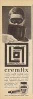 # BRILLANTINA CREMFIX, ITALY 1950s Advert Pubblicità Publicitè Reklame Hair Fixer Fixateur Cheveux Fijador Haar - Perfume & Beauty