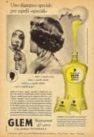 # GLEM TESTANERA SCHWARZKOPF EGG SHAMPOO, ITALY 1950s Advert Pubblicità Publicitè Reklame Hair Cheveux Haar Beautè Oeuf - Perfume & Beauty
