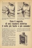# LECTRIC SHAVE WILLIAMS ITALY 1950s Advert Pubblicità Publicitè Reklame Lotion Lozione BarbaRasage Afeitar Rasierwasser - Perfume & Beauty