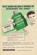 # MENNEN SHAVE LOTION,  ITALY 1950s Advert Pubblicità Publicitè Reklame Lozione Barba Rasage Afeitar Rasierwasser - Parfums & Beauté