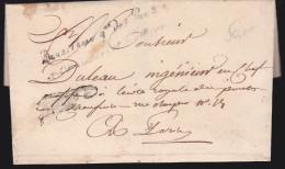 France - Lettre Taxée 1850 - Directeur Général ... Pour école Royale Paris (sans Correspondance) - 1849-1876: Classic Period