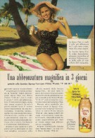 # SPRAY TAN CORVI PIACENZA 1950s Italy Advert Pubblicità Publicitè Reklame Suntan Oil Bronzage Creme Solaire Protector - Unclassified