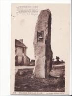 Carte 1930 AERO-CLUB DE CHOLET / LE MENHIR ROLAND GARROS (avion,aviation,dolmen ) - France