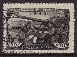 URSS 1948 - GIORNATA DEI CARRI ARMATI - K. 30 - USATO - Russia & USSR