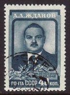 URSS 1948 - ANDREJ ZHDANOV - K. 40 - USATO - Russia & USSR