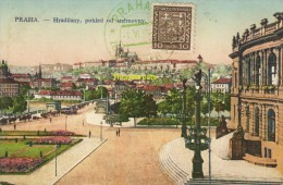 CARTE MAXIMUM CARD PRAHA HRADCANY POHLED OD SNEMOVNY - Postales