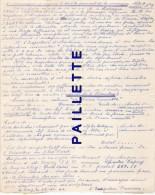 Granoux Chamalières Haute Loire 1941 école Institutrice Varennes Varenne  Note De Service 22x16cm  Voyagé Poste Cachet - Old Paper