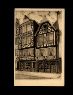 29 - MORLAIX - Carte Pub Dessin Par Son Proprétaire Alfred LE BARS - Morlaix