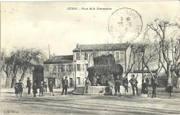 83 CUERS PLACE DE LA CONVENTION FONTAINE BELLE ANIMATION SUPERBE - Cuers