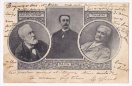 Les Annales Politiques Er Littéraires - 3 Bustes En Médaillon: Jules Verne - Bazin - Tinseau - Circulé 1903 - Personnages