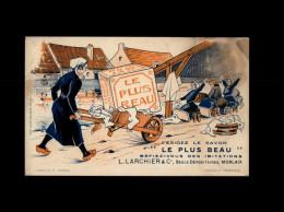 29 - MORLAIX - Carte Pub Pour Le Savon Le Plus Beau - Lavandières - Morlaix