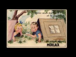 29 - MORLAIX - Carte à Système - Carte Avec Dépliant - Tente - Morlaix