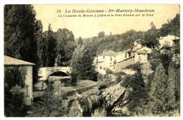 CPA 31 Haute-Garonne Saint-Martory-Mancioux Chaussée Du Moulin à Plâtre Et Pont Romain Sur La Noue - France